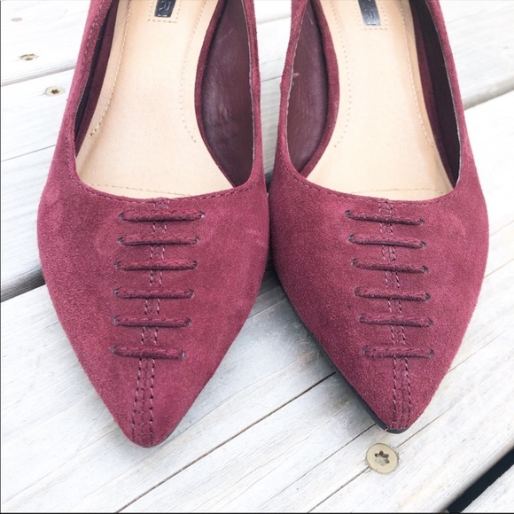 Tahari Shoes - Tahari Revolve Burgundy Suede Leather 2 Heels